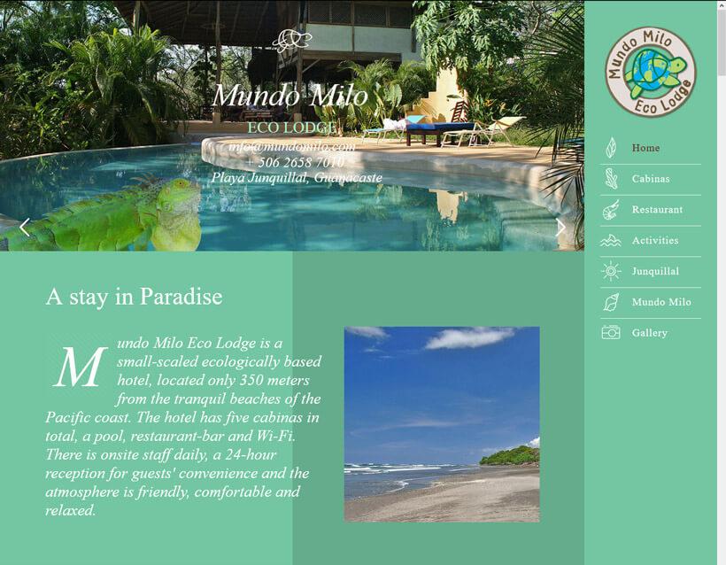 Mundo Milo Eco Lodge in Playa Junquillal