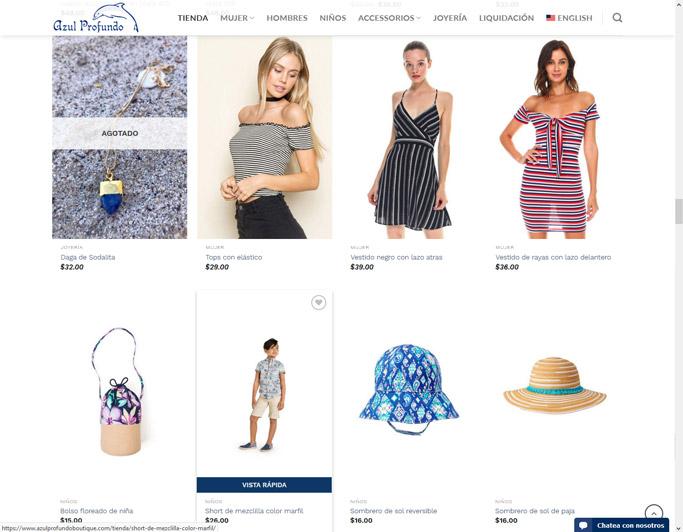 Tienda en linea – Azul Profundo